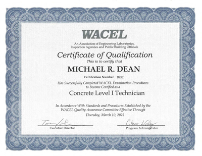 technician certification program overview - washington area council
